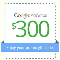 FREE up to $300 Google Adwords Coupon